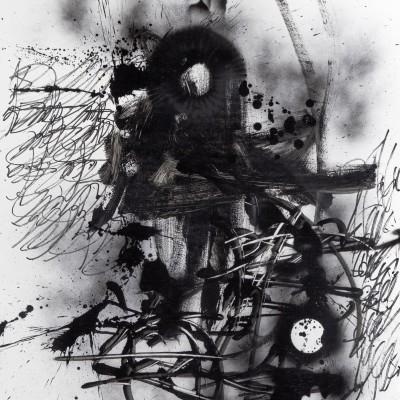 AU NOM DES MIENS 1, aérosol, glycéro et marker sur papier 77 x 107,5 cm, 2015