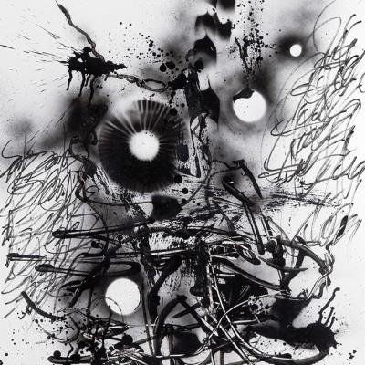 AU NOM DES MIENS 2, aérosol, glycéro et marker sur papier 77 x 107,5 cm, 2015
