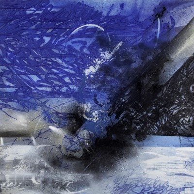 BREAKING CITY, acrylique et aérosol sur toile,150 x 200 cm, 2016