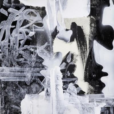 COMBINATION, acrylique et aérosol sur papier 39 x 54 cm, 2015