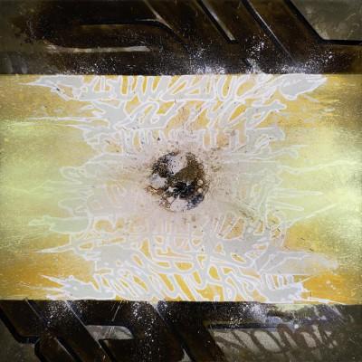 LUST N' HEAVEN, acrylique et aérosol sur toile, 100 x 100 cm, 2015