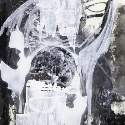 ORGAN'Z, 2015 Acrylique, aérosol et marker sur papier 48 x 55 cm