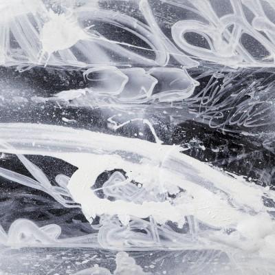 NIGHT WAY 3, acrylique, aérosol et marker sur film synthétique 97 x 46 cm, 2014