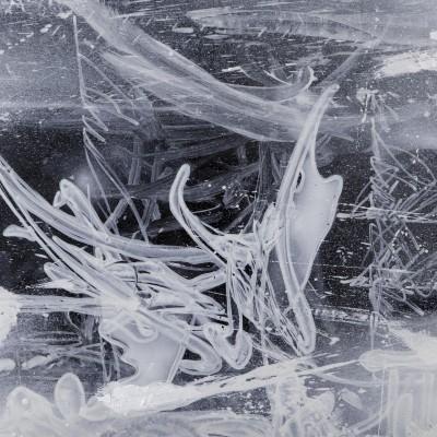 NIGHT WAY 4, acrylique, aérosol et marker sur film synthétique 97 x 46 cm, 2014