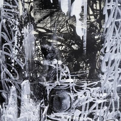 UPGRADUATION, acrylique et aérosol sur papier 59,5 x 69 cm
