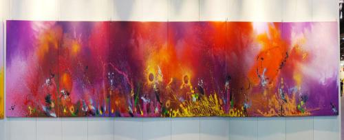 A SCENT OF POWER, aérosol sur toile, 6 x 250 x 250 cm, 2018